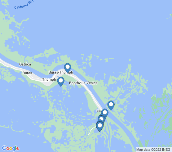 map of Boothville-Venice fishing charters