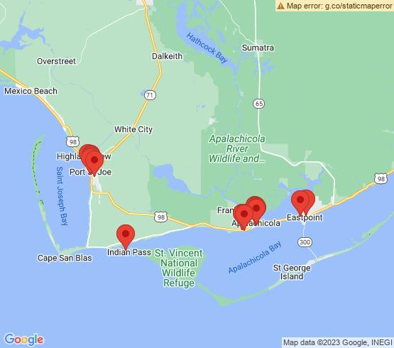 map of Apalachicola fishing charters