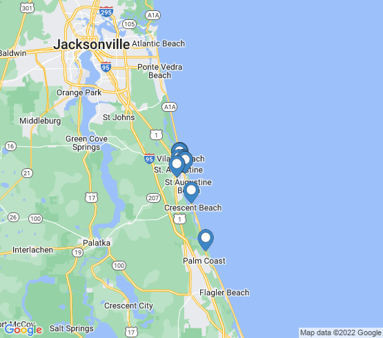 map of St Augustine fishing charters