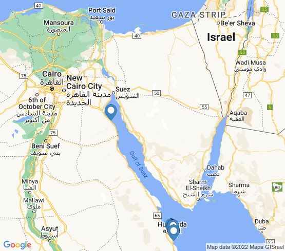 map of Egypt fishing charters