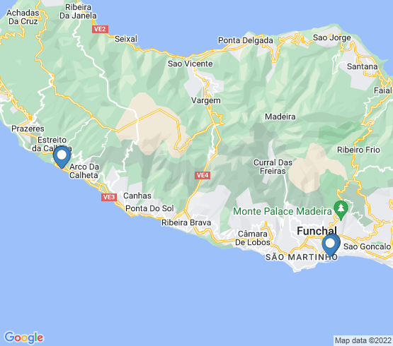 map of Madeira fishing charters