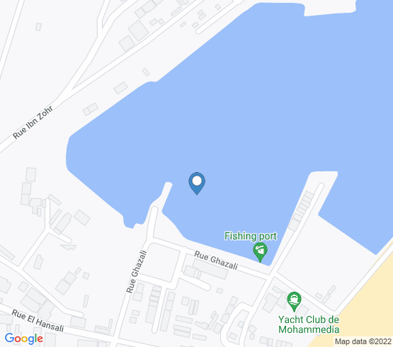 map of Mohammédia fishing charters