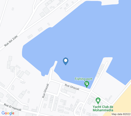 map of Mohammédia fishing charters