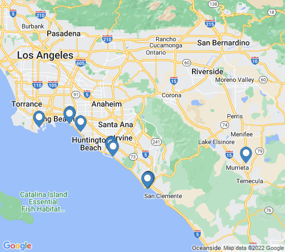 map of Dana Point fishing charters
