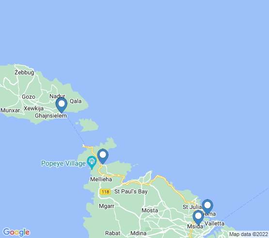 map of Mgarr fishing charters