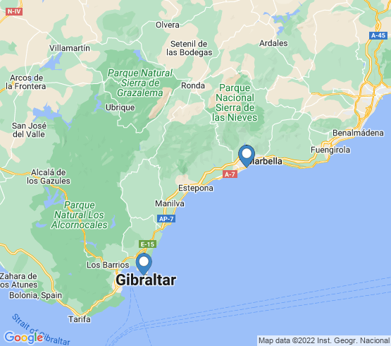 map of Marbella fishing charters
