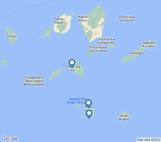 map of Ios fishing charters