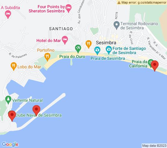map of Setubal fishing charters