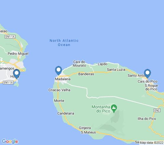 map of Horta fishing charters