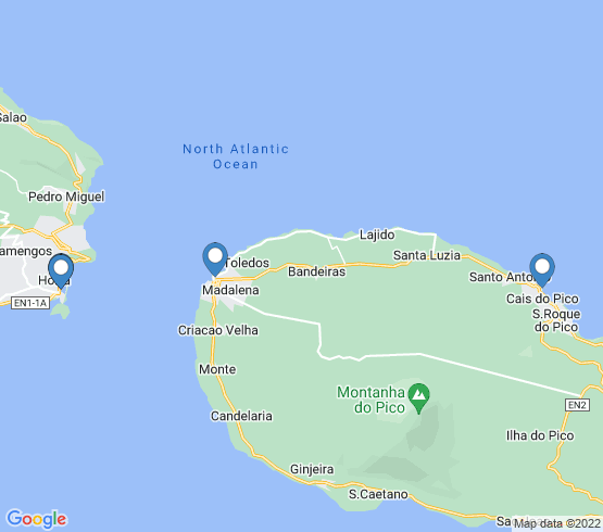 map of Madalena fishing charters