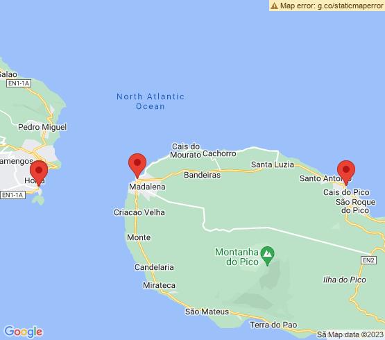 map of São Roque Do Pico fishing charters