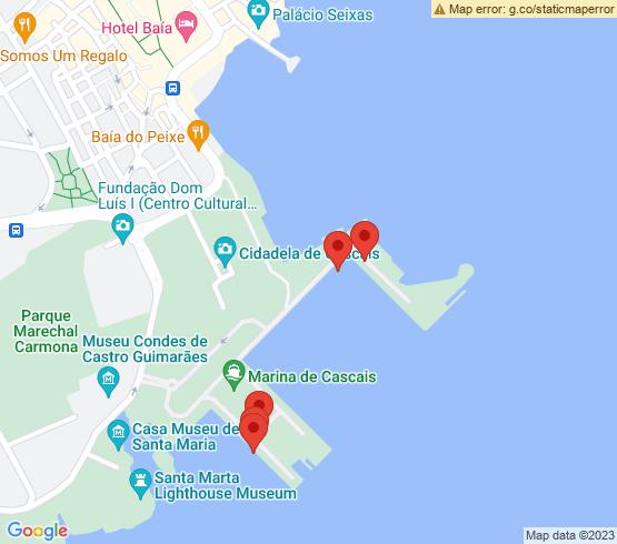map of Lisboa fishing charters