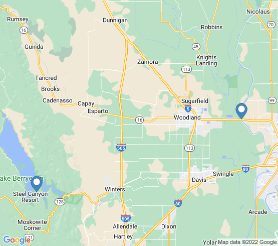 map of Napa fishing charters