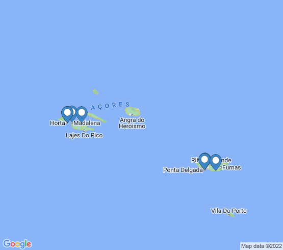 map of Azores fishing charters