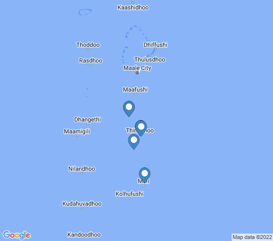 map of Male Atoll fishing charters