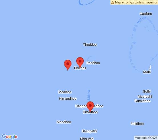 map of Ukulhas fishing charters