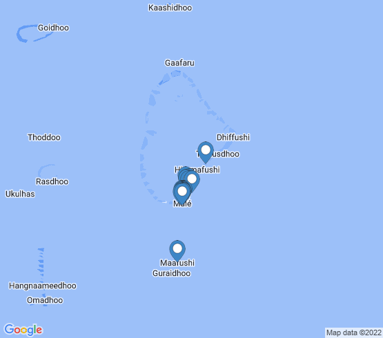 map of Malé fishing charters