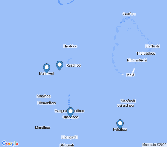map of Omadhoo fishing charters