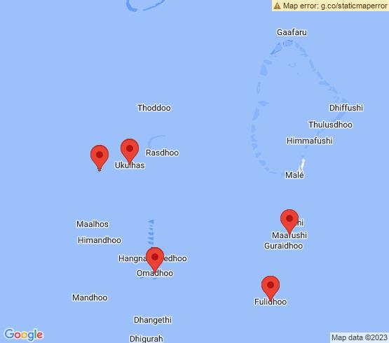 map of Omadhoo fishing charters