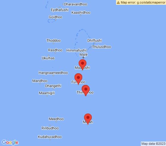 map of Felidhoo fishing charters