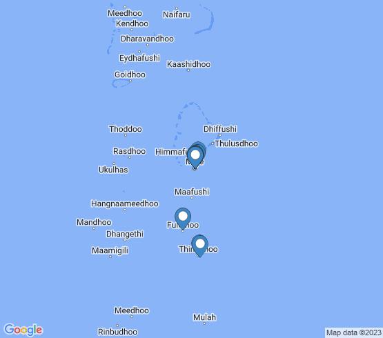 map of Fulidhoo fishing charters