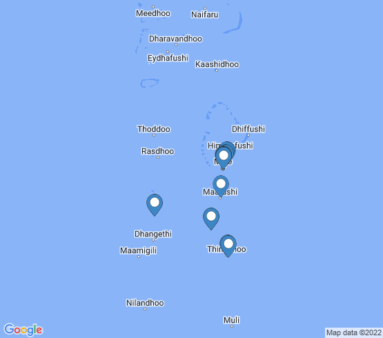 map of Fulidhooo fishing charters