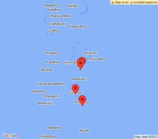 map of Fulidhooo fishing charters