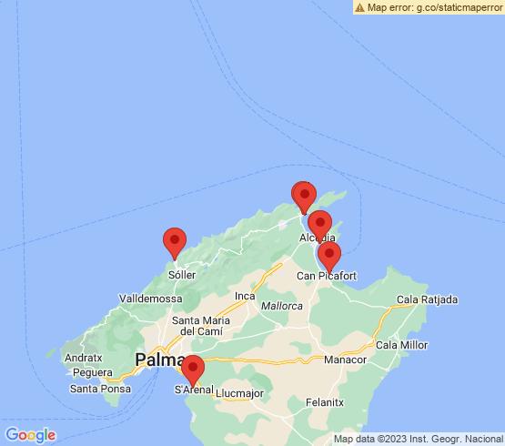 map of Port De Sóller fishing charters