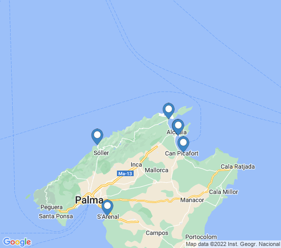 map of Port De Sóller fishing charters