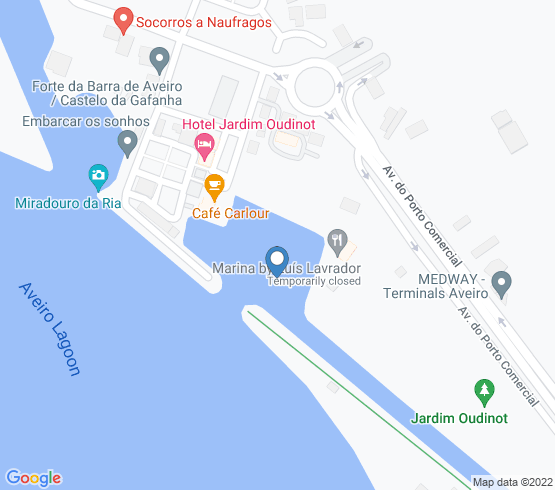 map of Aveiro fishing charters