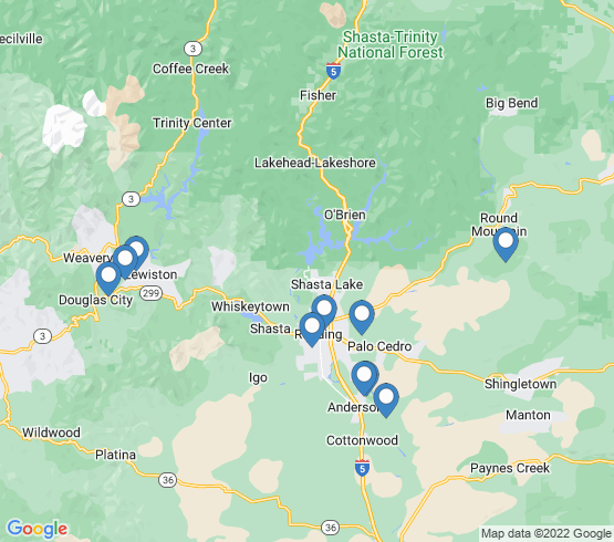 map of Anderson fishing charters