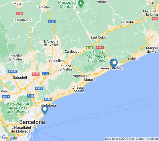 map of Cataluña fishing charters