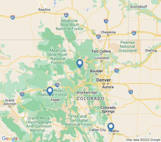 map of Colorado fishing charters