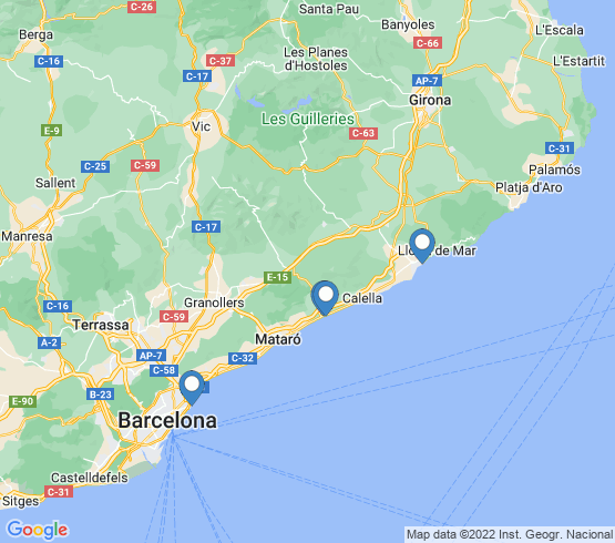 map of Barcelona fishing charters