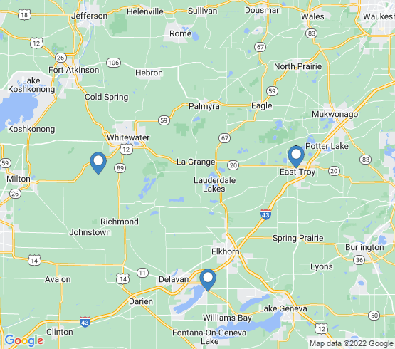 map of Whitewater fishing charters