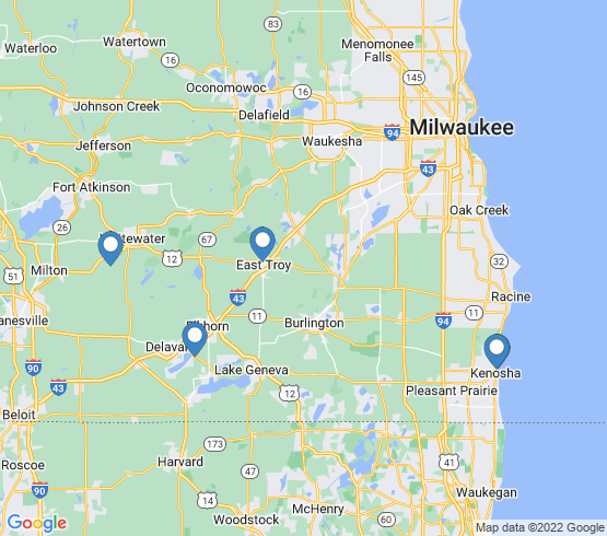 map of Elkhorn fishing charters