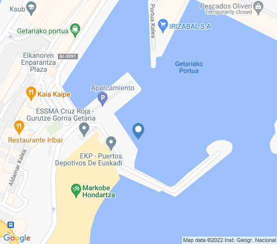 map of Pais Vasco fishing charters