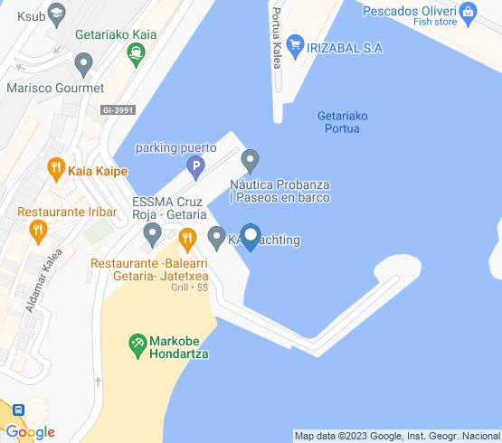 map of Pais Vasco fishing charters