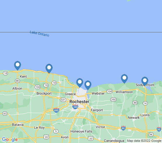 map of Webster fishing charters