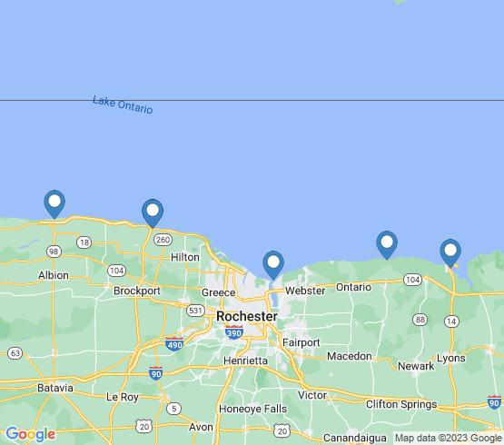 map of Oswego fishing charters
