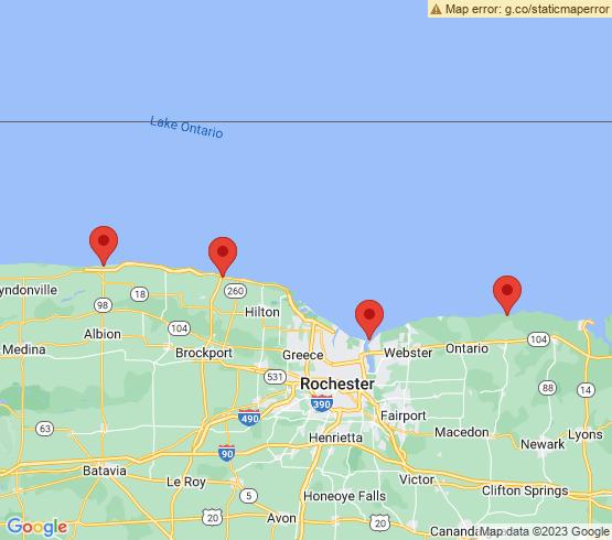map of Hamlin fishing charters