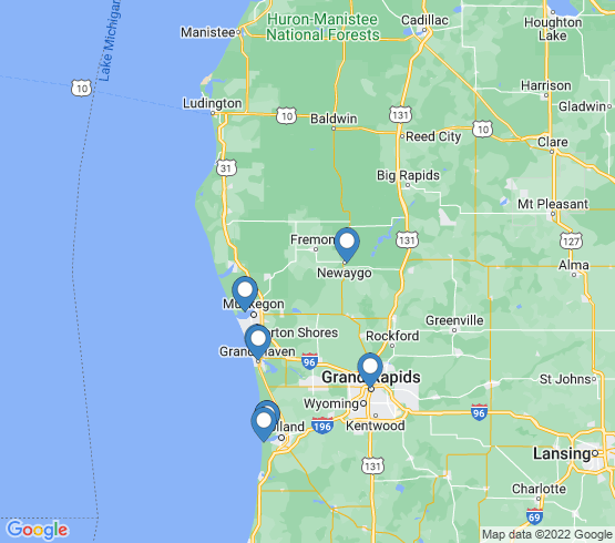 map of Grand Haven fishing charters