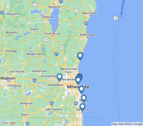 map of Milwaukee fishing charters