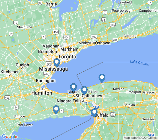 map of St Catharines fishing charters