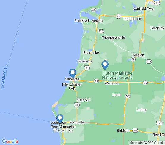 map of Custer fishing charters