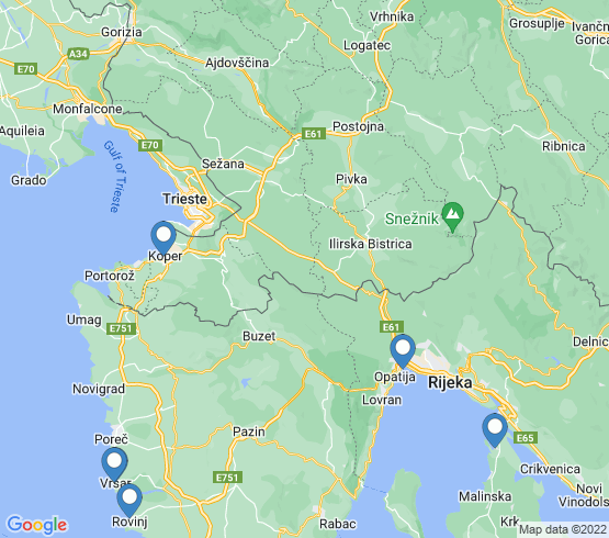 map of Opatija fishing charters