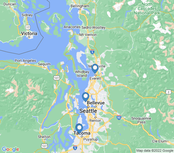 map of Seattle fishing charters