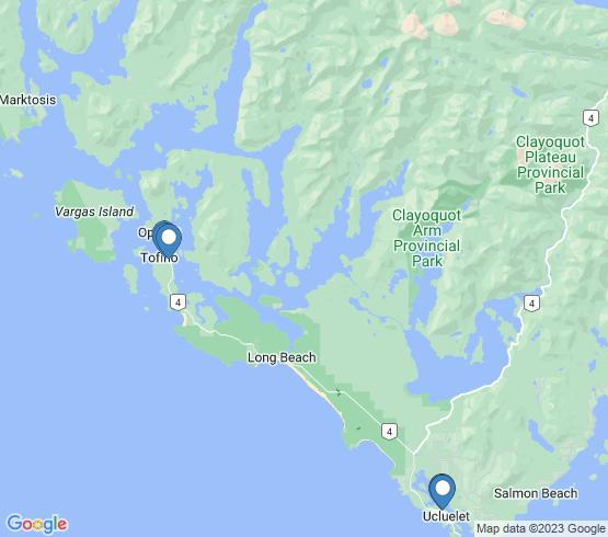 map of Tofino fishing charters