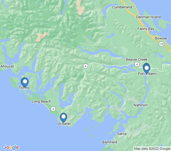 map of Ucluelet fishing charters
