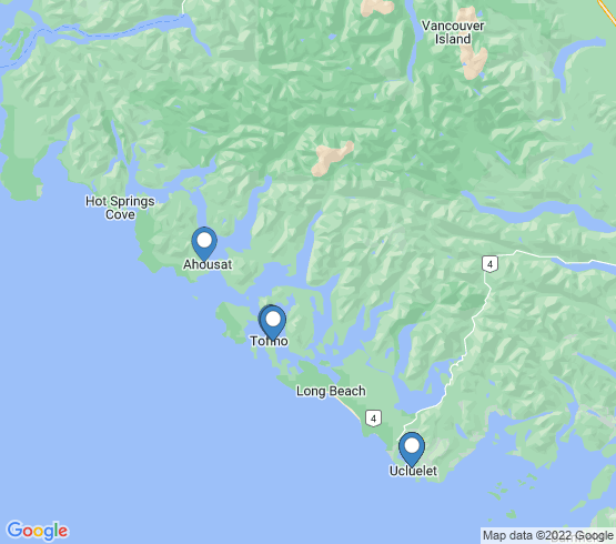 map of Tofino fishing charters